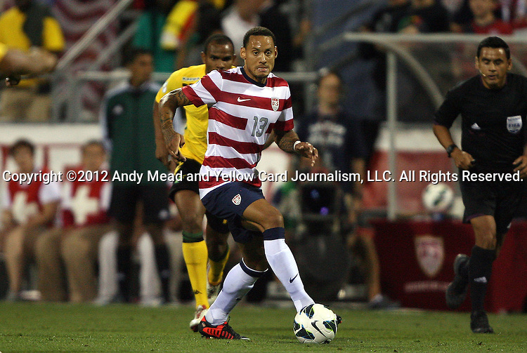 11 September 2012: Jermaine Jones (USA). The United States Men's National Team defeated the Jamaica Men's National Team 1-0 at Columbus Crew Stadium in Columbus, Ohio in a CONCACAF Third Round World Cup Qualifying match for the FIFA 2014 Brazil World Cup.