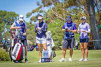 Hannah Green (AUS) and Jodi Ewart Shadoff (GBR) during the third round of the ISPS Handa Women&rsquo;s Australian Open, The Grange Golf Club, Adelaide SA 5022, Australia, on Saturday 16th February 2019.<br /> <br /> Picture: Golffile | David Brand<br /> <br /> <br /> All photo usage must carry mandatory copyright credit (&copy; Golffile | David Brand)