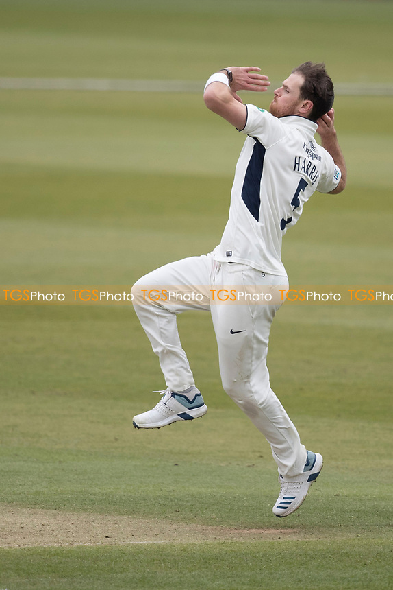 James Harris in action for Middlesex CCC during Middlesex CCC vs Lancashire CCC, Specsavers County Championship Division 2 Cricket at Lord's Cricket Ground on 12th April 2019