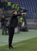 Calcio, Champions League: Gruppo E - Roma vs Bate Borisov. Roma, stadio Olimpico, 9 dicembre 2015.<br /> Roma's coach Rudi Garcia gestures to his players during the Champions League Group E football match between Roma and Bate Borisov at Rome's Olympic stadium, 9 December 2015.<br /> UPDATE IMAGES PRESS/Isabella Bonotto