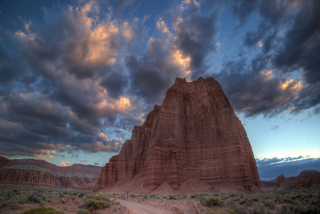 The Temple of the Moon at Capitol Reef National Park's Cathedral Valley