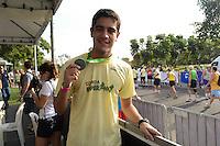 RIO DE JANEIRO, RJ, 05 AGOSTO 2012 -CORRIDA E CAMINHADA DA ESPERANCA - O ator Miguel Romulo na Corrida e Caminhada da Esperanca levou centenas de pessoas ao Aterro do Flamengo no evento que faz parte do Crianca Esperanca, neste domingo, 05, no Aterro do Flamengo, zona sul do rio.(FOTO: MARCELO FONSECA / BRAZIL PHOTO PRESS).