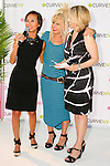 Josie Natori, Betsey Johnson, and Carole Hochman on stage at the CURVE and CFDA Party For A Cause event during the CURVENY Lingerie & Swim show, at the Jacob Javits Convention Center, August 2, 2010.