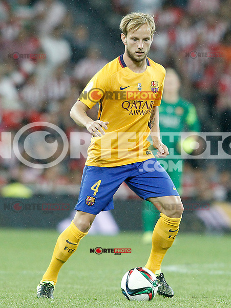 FC Barcelona's Ivan Rakitic during Supercup of Spain 1st match.August 14,2015. (ALTERPHOTOS/Acero)