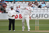 Simon Harmer in bowling action for Essex during Essex CCC vs Warwickshire CCC, Specsavers County Championship Division 1 Cricket at The Cloudfm County Ground on 14th July 2019