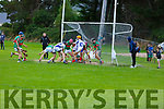 A goal mouth scramble as Crotta O'Neills defend against another Tralee Parnells attack in the Minor Hurling Championship on Monday night,