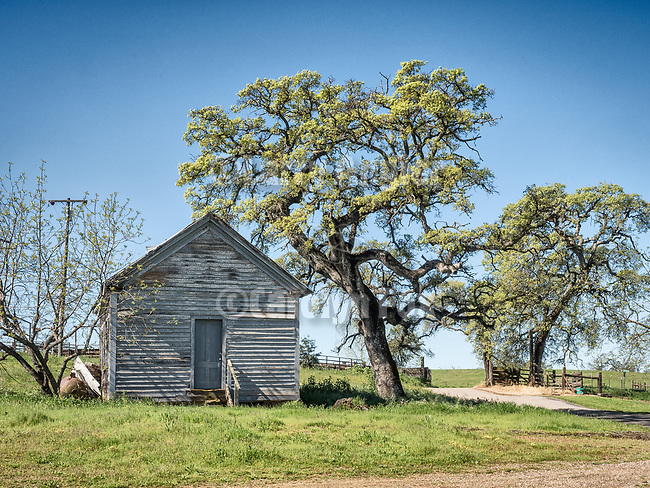 Historic Felix one-room school house & post office, oaks, Salt Spring Valley, Calif.