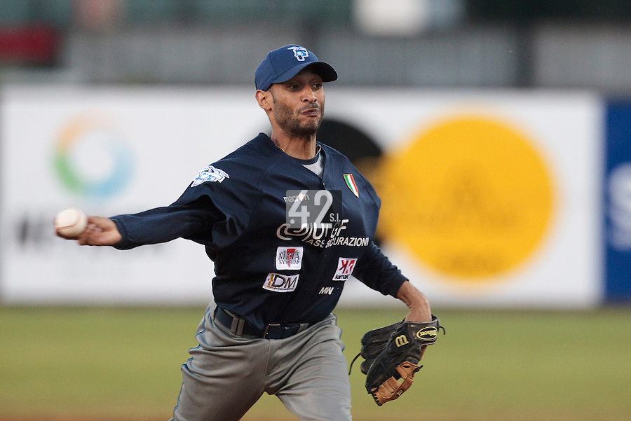 05 June 2010: Frank Balbuena of Bologna pitches against Rouen during the 2010 Baseball European Cup match won 10-0 by Fortitudo Bologna over the Rouen Huskies, at the AVG Arena, in Brno, Czech Republic.