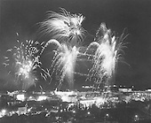 Israel's Independence Day after the Six-Day War with fireworks over the City of Jerusalem