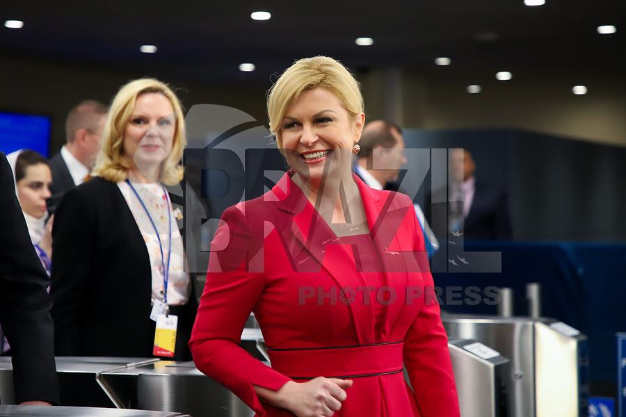 NOVA YORK, EUA, 24.09.2019 - ONU-EUA - Kolinda Grabar-Kitarović Presidente da Croacia durante da 74ª Assembleia Geral da Organização das Nações Unidas (ONU) em Nova York nos Estados Unidos nesta terça-feira, 24. (Foto: Vanessa Carvalho/Brazil Photo Press)