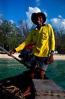 Longtail boat captain. Ko Poda (Krabi province) - Thailand.