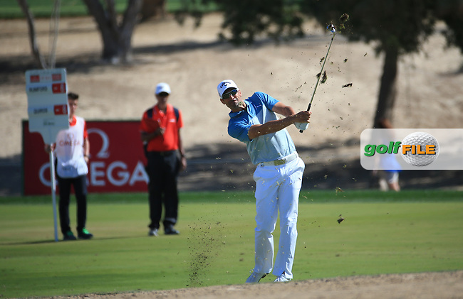 Alvaro Quiros (ESP) during Round Three of the 2016 Omega Dubai Desert Classic, played on the Emirates Golf Club, Dubai, United Arab Emirates.  06/02/2016. Picture: Golffile | David Lloyd<br /> <br /> All photos usage must carry mandatory copyright credit (&copy; Golffile | David Lloyd)