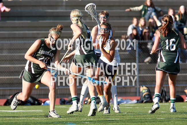 Coronado vs La Costa Canyon (CIF San Diego Sectional Girls Lacrosse Final).Rancho Bernardo High School Stadium, San Diego...\LCC.\COR..OM3D8229.JPG.CREDIT: Dirk Dewachter