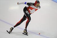 SCHAATSEN: HEERENVEEN: Thialf, 4th Masters International Speed Skating Sprint Games, 25-02-2012, Peter Reimann (M70) 2nd, ©foto: Martin de Jong