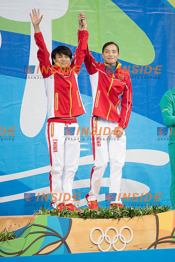SHI Tingmao,  WU Minxia gold  medal<br /> 3m synchro women <br /> Rio de Janeiro XXXI Olympic Games <br /> Olympic Aquatics Stadium <br /> diving  07/08/2016<br /> Photo Giorgio Scala/Deepbluemedia/Insidefoto