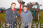 Ploughing competitor Patrick Boyle with his father Tom from Causeway pictured last Tuesday at the National Ploughing Championship in Wexford.