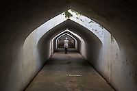 Yogyakarta, Java, Indonesia.  Tunnel leading from the Underground Mosque, part of the Taman Sari (Water Palace) Complex.