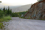 On the road to Solomon's Dome, Dawsan City, The Yukon Territory, Canada