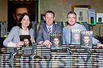 Tanya and Brian O'Shea with Colm Cooper at the launch of Gooch The Autobiography in the Gleneagle Hotel on Thursday evening