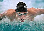 Tennis Club's Jarom Chamberlain competes in the 100 yard IM race during the 53rd annual Country Club Swimming Championships on Tuesday, Aug. 7, 2012, in Kearns, Utah. (© 2012 Douglas C. Pizac)