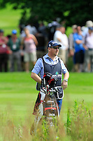 Simon Thornton (IRL)  caddy Gary on the 10th during Round 2 of the Irish Open at Fota Island on Friday 20th June 2014.<br /> Picture:  Thos Caffrey / www.golffile.ie