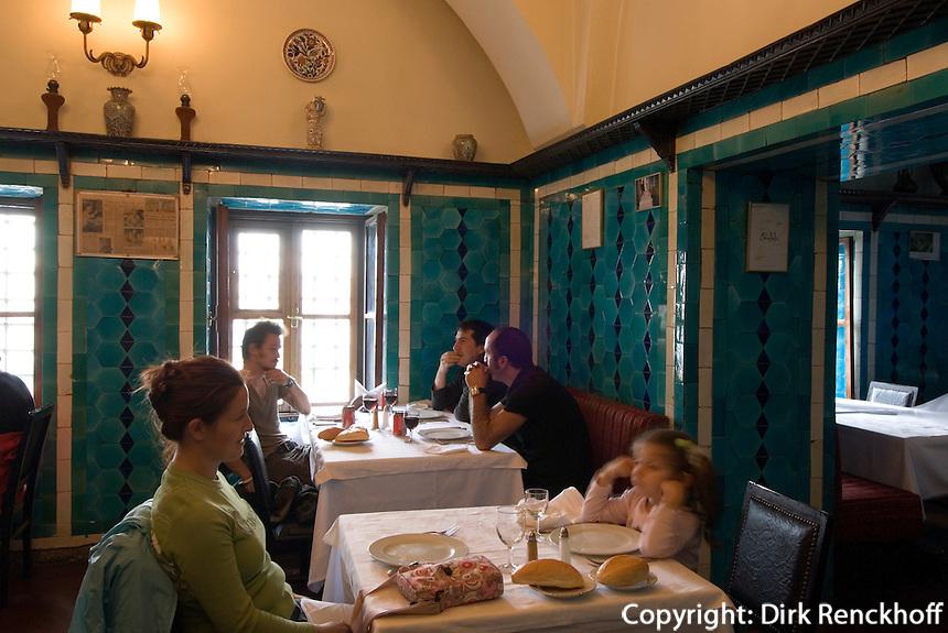 Türkei, Restaurant Pandeli im ägyptischen Basar in Istanbul