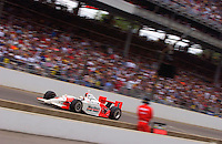 87th Indianapolis 500, Indianapolis Motor Speedway, Speedway, Indiana, USA  25 May,2003.Gil deFerran speeds past the main grandstand on his way to victory..World Copyright©F.Peirce Williams 2003 .ref: Digital Image Only..F. Peirce Williams .photography.P.O.Box 455 Eaton, OH 45320.p: 317.358.7326  e: fpwp@mac.com..