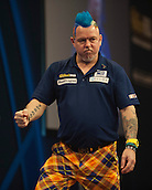 01.01.2014.  London, England.  William Hill PDC World Darts Championship.  Quarter Final Round.  Peter Wright (5) [SCO] celebrates a finish during his game with Gary Anderson (4) [SCO]. Anderson won the match 5-1