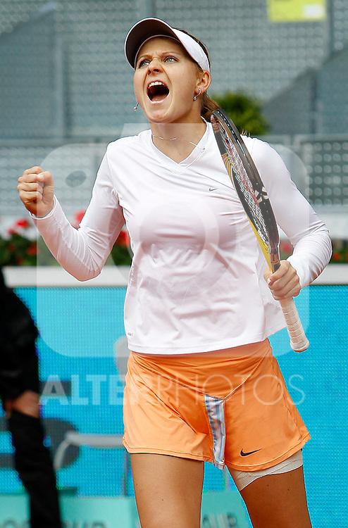 Lucie Safarova during Tennis Madrid Open match, May 14,2010..(ALFAQUI/Alex Cid-Fuentes)