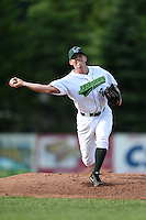 Jamestown Jammers pitcher Sam Street (44) delivers a pitch during a game against the Vermont Lake Monsters on July 13, 2014 at Russell Diethrick Park in Jamestown, New York.  Jamestown defeated Vermont 6-2.  (Mike Janes/Four Seam Images)