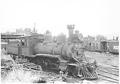 RGS 2-8-0 #41 parked in Riddgway yard.<br /> RGS  Ridgway, CO  Taken by Pennington, William - 8/7/1940