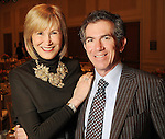 Harper's Bazaar publisher Valerie Salembier with the Chronicle's Jeff Cohen at the 2010 Best Dressed Luncheon and Neiman Marcus Fashion show at the Westin Galleria Hotel Wednesday March 31,2010. (Dave Rossman Photo)