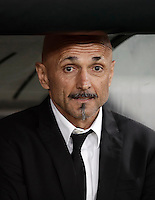 Calcio, Serie A: Roma, stadio Olimpico, 1marzo 2017.<br /> Roma&rsquo;s coach Luciano Spalletti waits for the start of the Italian TIM Cup 1st leg semifinal football match between Lazio and AS Roma at Rome's Olympic stadium, on March 1, 2017.<br /> UPDATE IMAGES PRESS/Isabella Bonotto