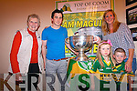 Kerry footballer, Paul Murphy, with Rita Kelleher, Angela, Erin and Leon O'Neill.