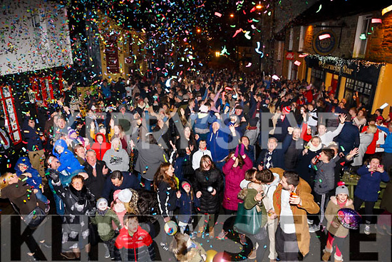 The streets of Waterville came alive for the New Years celebration.