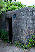 The Kure Beach Hermit's bunker, formerly a WWII bunker.