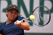 8th June 2017, Roland Garros, Paris, France; French Open tennis championships; Yui Kamiji (Japan) as she defeated Charlotte Famin, (Fra) 6-2, 6-1 in wheelchair singles