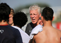 USA head coach Thomas Rongen talks to the team after the game. The US U-20 Men's National Team defeated the U-20 Men's National Team of Costa Rica 2-1 in an international friendly during day four of the US Soccer Development Academy  Spring Showcase in Sarasota, FL, on May 25, 2009.