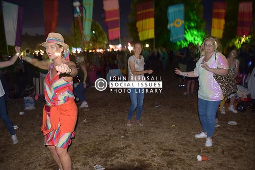 Latitude Festival, Henham Park, Suffolk, UK July 2019. Dancing to Underworld