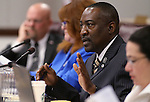Nevada Assemblyman Tyrone Thompson, D-North Las Vegas, works in committee at the Legislative Building in Carson City, Nev., on Thursday, May 9, 2013..Photo by Cathleen Allison