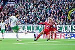 Stockholm 2014-05-04 Fotboll Superettan Hammarby IF - IFK V&auml;rnamo :  <br /> Hammarbys Pablo Pinones-Arce skjuter in sitt 2-1 m&aring;l i den anda halvleken<br /> (Foto: Kenta J&ouml;nsson) Nyckelord:  Superettan Tele2 Arena Hammarby HIF Bajen V&auml;rnamo