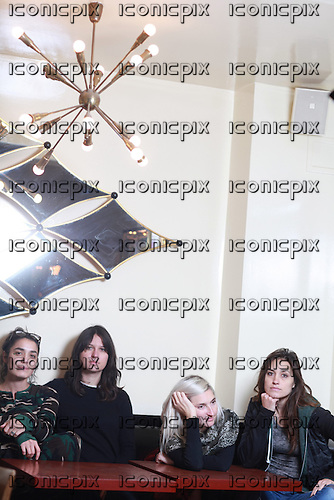 WARPAINT<br />  - L-R: Jenny Lee Lindberg, Stella Mozgawa, Emily Kokal, Theresa Wayman - Photosession in Paris France - 19 Nov 2013.  Photo credit: Manon Violence/Dalle/IconicPix