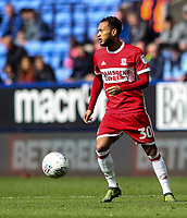Middlesbrough's Lewis Baker<br /> <br /> Photographer Andrew Kearns/CameraSport<br /> <br /> The EFL Sky Bet Championship - Bolton Wanderers v Middlesbrough - Saturday 9th September 2017 - Macron Stadium - Bolton<br /> <br /> World Copyright &copy; 2017 CameraSport. All rights reserved. 43 Linden Ave. Countesthorpe. Leicester. England. LE8 5PG - Tel: +44 (0) 116 277 4147 - admin@camerasport.com - www.camerasport.com