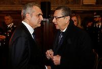 Francesco Cananzi e Luca Colangelo durante la cerimonia di innagurazione anno giudiziario in Campania <br /> Salone dei Busti Castel Capuano Napoli
