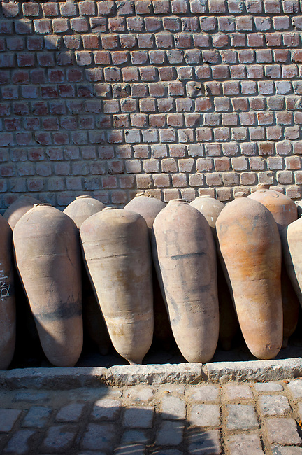 Lima, Peru, Traditional Pisco Fermenting Containers, Tabernero Winery & Vineyards, Valley Of Chincha, Ica Province