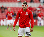 Ched Evans of Sheffield Utd warms up during the Championship match at the Riverside Stadium, Middlesbrough. Picture date: August 12th 2017. Picture credit should read: Simon Bellis/Sportimage