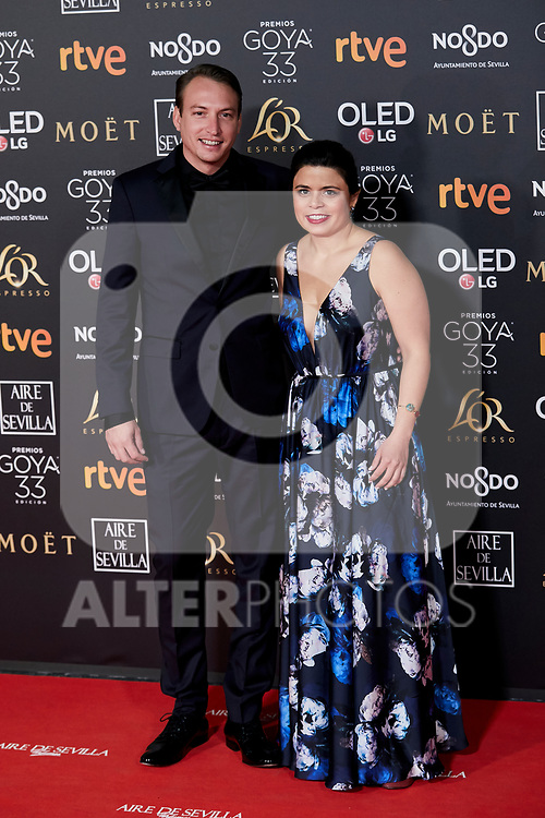 Nicolas Celis and Gabriela Rodriguez attends to 33rd Goya Awards at Fibes - Conference and Exhibition  in Seville, Spain. February 02, 2019. (ALTERPHOTOS/A. Perez Meca)
