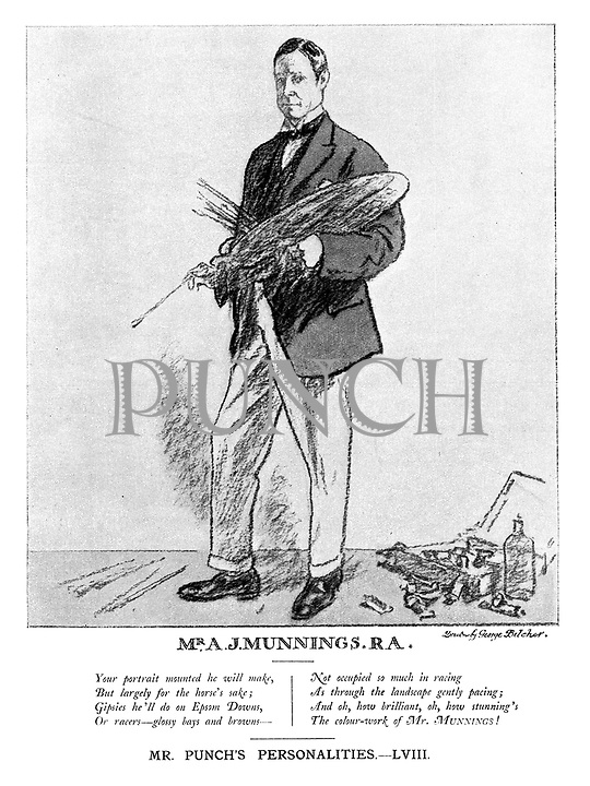 Mr A J Munnings, R A. Mr Punch's Personalities. - LVIII.