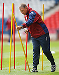 Terry Butcher at Hampden for training