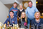 Kate Sheehy, Tralee, celebrates her 18th Birthday with family at Bella Bia's on Friday Pictured front  l-r Darragh Sheehy, Kate Sheehy, Jenny Sheehy, Back l-r Eoin Sheehy, Mary O'Donovan and Pat Sheehy